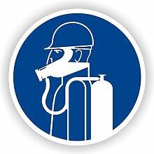 schweren Atemschutz tragen / Gebotszeichen / GE-27