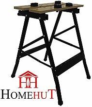 Schwerlast 125kg tragbare, klappbare Werkbank Holz Bench Arbeit aufspannung Arbeitsplatte DIY by Home Hütte ®