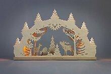 Schwibbogen Hirschfamilie 7 flg hergestellt im Erzgebirge - eine wunderschöne Dekoration für Weihnachten