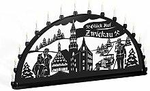 Schwibbogen Lichterbogen Metall - Motiv: Zwickau -