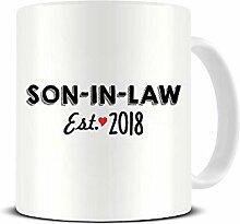 Schwiegersohn - Est. Keramik-Kaffeetasse 2018 –