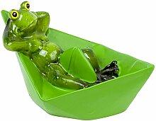 Schwimm Figur Teich Frosch auf Papier Schiffchen -