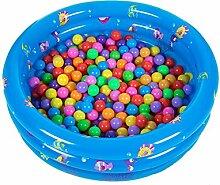 Schwimmbad Aufblasbar Schnelles Set Snapset Planschbecken FÜR Kinder Kinder Baby Genießen Sie Wasser Spaß (Außendurchmesser 80 * 30cm, Blau)