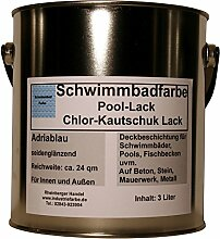 Schwimmbadfarbe, Pool-Lack, Chlor-Kautschuk Lack,