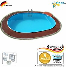 Schwimmbecken 5,85 x 3,50 x 1,20 Stahlwandpool Ovalpool Swimmingpool 5,85 x 3,5 x 1,2 Ovalbecken Stahlwandbecken Fertigpool oval Pool Einbaupool Pools Gartenpool Einbaubecken Folienpool Se