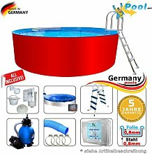 Schwimmbecken 6,40 x 1,25 Set Stahlwandpool Rundpool Swimmingpool 6,4 x 1,2 Stahlwandbecken Aufstellpool Rundbecken Fertigpool rund Pool Sets Aufstellbecken Pools Gartenpool 640 Komplettse