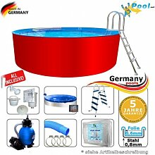 Schwimmbecken 7,30 x 1,25 Set Stahlwandpool Rundpool Swimmingpool 7,3 x 1,2 Stahlwandbecken Aufstellpool Rundbecken Fertigpool rund Pool Sets Aufstellbecken Pools Gartenpool 730 Komplettse