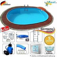 Schwimmbecken 7,40 x 3,50 x 1,20 Set Stahlwandpool