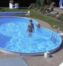 Schwimmbecken 8-form Elba 7,25 x 4,60m/1,50m