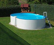 Schwimmbecken Achtform Pool Bora Bora 3,60 x 6,25 x 1,20m