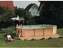 Schwimmbecken Azteck Pool Ovalformbecken Aufstellbecken Höhe 140 cm 4,00 x 10,50 m