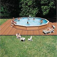 Schwimmbecken Azteck Pool Rundformbecken Teileinbaubecken Höhe 140 cm ∅ 4,40 m