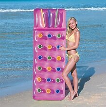 Schwimmbecken Luftmatratze Lilo Luftbett Aufblasbar 18 Taschen Fashion Sommer Sonne - Rosa