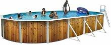 Schwimmbecken Oval canarias (Holz, 4m3/h, 610 x
