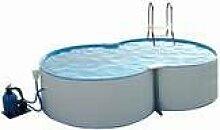 Schwimmbecken Set 8-form 6,25m x 3,60/1,2m