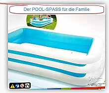 Schwimmbecken Swimmingpool Pool Vinyl 262x175x56 cm
