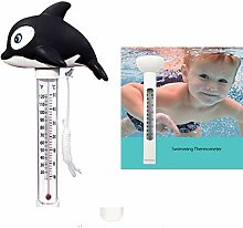 Schwimmende pool thermometer Karikatur