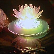 Schwimmende Solar Lotus Blumenlichter Wasserdicht