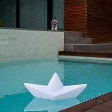 Schwimmfähige Akku-LED-Dekolampe The Boat