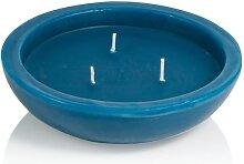 Schwimmkerze Azurblau mit 3 Dochten, 45 x 158 mm