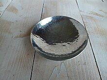 Schwimmlicht Schwimmlinse Schwimmschale Metall silber Gartenteich Teich Deko 9cm
