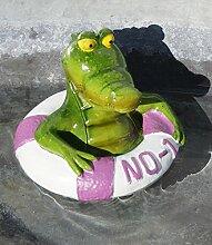 Schwimmtier Krokodil in Reifen, in bunten Farben, Kunststoff, GD112 (Violett)