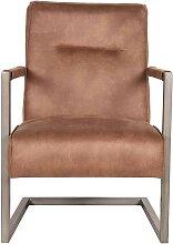 Schwing Sessel in Braun Microfaser modern
