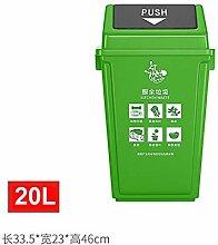 Schwingdeckel Mülleimer, Küche und Bad Müll,