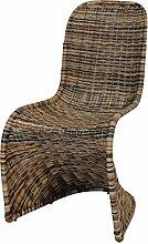 Schwingstuhl, Esszimmer-Stuhl aus Rattan,