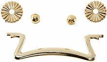 SCHWINN 22825 Griff, Möbelgriff, Hängegriff, Zamak, Bohrlochabstand 96 mm, gold glänzend