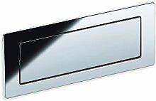 Schwinn 2Z075 Griff, Möbelgriff, Griffschale, Zamak, Bohrlochabstand 128 mm, edelstahlfinish