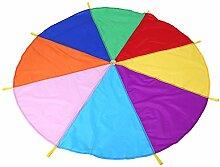 Schwungtuch Regenbogen Fallschirm Kinder Familie