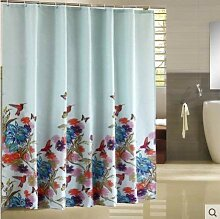 SCJ Duschbadewanne mit Vorhang, Polyester-Vorhang,