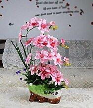 SCLOTHS Künstliche Blumen Home Zubehör Kit Kunststoff Orchid Pink