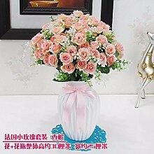 SCLOTHS Künstliche Blumen Home Zubehör Kit Kunststoff Rosa