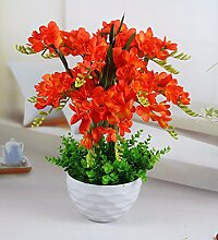 SCLOTHS Künstliche Blumen Home Zubehör Kit Lilie Orange