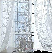 SCOFEEL HOME 1er Spitze Blume Fenster Vorhang