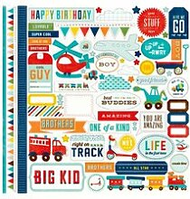 Scoot Cardstock Stickers 12X12-Element by Echo
