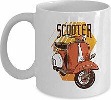 Scooter Coffee Mug - Orange Vespa Retro Vintage