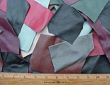Scrap-Polstermöbel, Leder, verschiedene Farben,