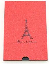 """Scrapbook Album, Vintage Fotoalbum Retro Fotobuch Hochzeit Gästebuch Skizzenbuch für Hochzeit Geburtstagsgeschenk Jahrestag Geschenk für Frauen Männer Freundin Mama Papa, """"Pariser Eiffelturm"""" Ro"""