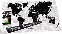 Scratchy Planet® - Designer Weltkarte zum