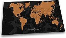 Scratchy Planet - Designer Weltkarte zum Rubbeln,