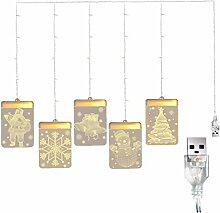 Screst Weihnachten Hängende Lichter Vorhang