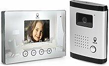 SCS SEN4136438 Videotürsprechanlage mit 4 Fäden, Grau