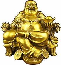 Sculptures TongN Happy Buddha Statue für Glück &