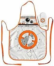 SD Toys BB-Vorratsdose Glas Star Wars Schürze und Topfhandschuh, aus Polycotton, Weiß/Orange, 3x 3x 3cm