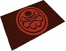 SD Toys Fußmatte Logo Hydra, Kokosfaser, schwarz, Dekoration von Haus