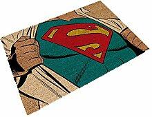SD Toys Marvel Fußmatte Design Clark Kent, Kokosfaser, Blau, Dekoration von Haus
