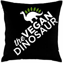 sd4r5y3hg The Vegan Dinosaur Decorative Square